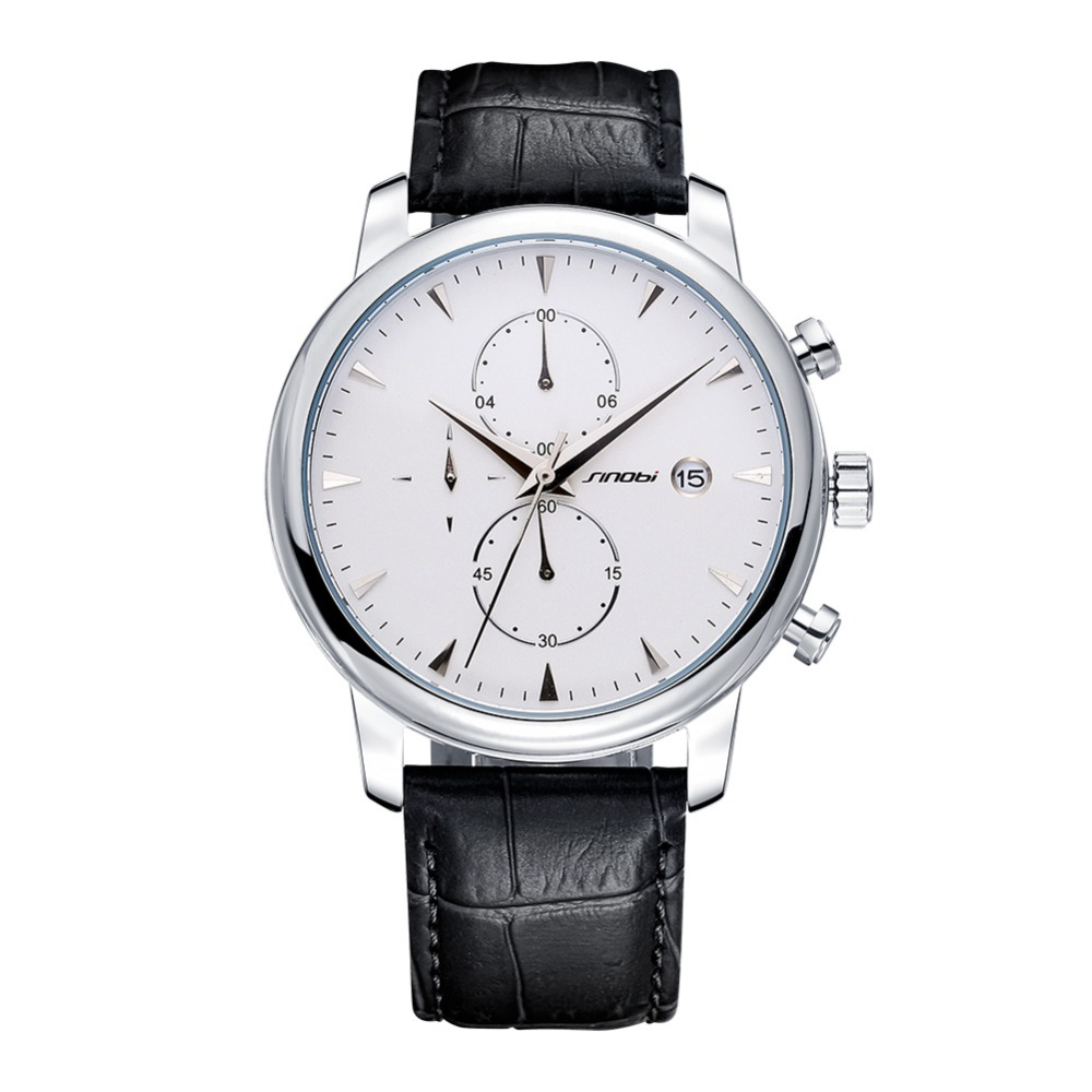 2017 Luxury Brand SINOBI Date Genuine Leather Men Quartz Watch Rose Gold Casual Sports Watches Men Wrist Watch Relogio Masculino<br><br>Aliexpress
