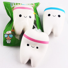 10.5cm Upscale Jumbo Squishy Kawaii Cute Adorable Teeth Soft Slow Rising Jumbo Squeeze Cell Phone Strap Pendant Toy