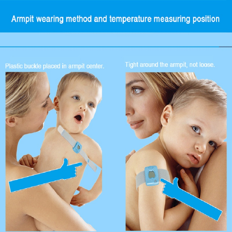 Bluetooth Remote Kids Children Wearable Monitoring Smart Body Infant Thermometer