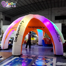 Free Shipping 6 meters Six Legs Portable Inflatable tents customized logo printing blow up spider dome marquee toy tent(China)