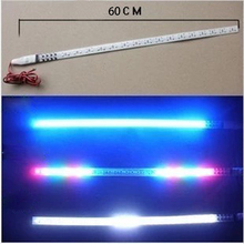 2 Pcs COB 30cm 60cm LED DRL Car Strobe Flash Decoration Strip 100%Waterproof LED Flexible Strips Knight  Rider Car Light CJ