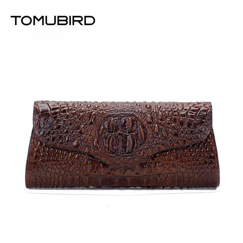 TOMUBIRD New women genuine leather bag fashion Crocodile pattern embossing real leather art bag women clutch Evening Bags<br><br>Aliexpress