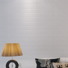 Korean clothing store works wallpaper pure white concave and convex 3D stereo imitation brick shop white brick wallpaper