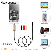 Hazy beauty Android Usb Endoscope Camera Snake Industrial Usb Endoscopy Camera 1M Cable For Smartphone Win 8/9/10 PC(China)