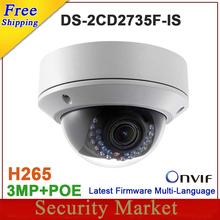 Original DS-2CD2735F-IS replace DS-2CD2732F-IS H265 H264 IP Camera Dome  network camera support POE CCTV IP VF lens IPC