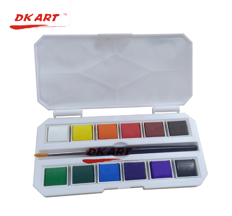 Freeshipping New products listed professional level 12 color solid watercolor paint Time limited quantity<br><br>Aliexpress
