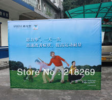 8X8ft High Quality!!! Fabric Pop up Stand, straight Fabric Pop up, Fabric Banner wall(China)