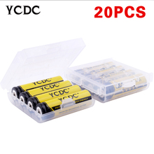 YCDC 20pcs 1.2V Ni-Mh AA Number Battery 2000mAh Large Capacity Battery Rechargeable Replacement Battery+Battery Case(China)