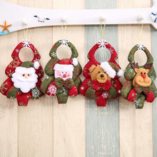 New Creative Snowman Santa Claus Showcase Shop House Door Pendant Christmas Tree Decoration Kids Novelty Toys New Year Gifts(China)