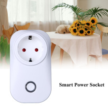 Smart Power Socket Plug, Wifi Wireless Remote Control Power Outlet Switch Timer EU Plug Socket for home use
