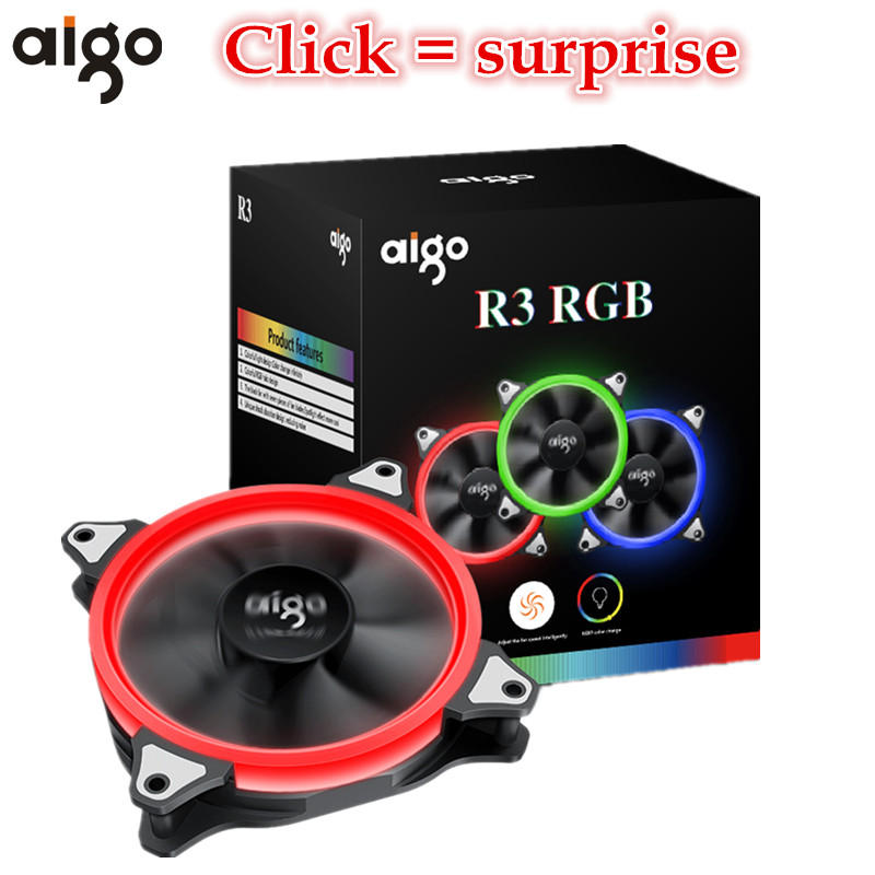 Aigo Aurora R3 120mm RGB Adjustable Colour Halo Fa...