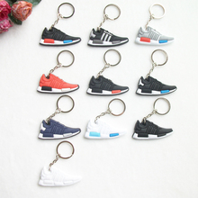 Mini Silicone NMD Keychain Bag Charm Woman Men Kids Key Ring Gifts Sneaker Key Holder Pendant Accessories Jordan Shoes Key Chain(China)