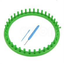E74 24CM Classical Round Circle Hat Knitter Knifty Knitting Knit Loom Kit Green(China)