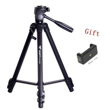 1.31M New Professional Aluminum Camera Stand Tripod&Pan Head for SLR DSLR Digital Camera Gorillapod Tripode BY558S(China)