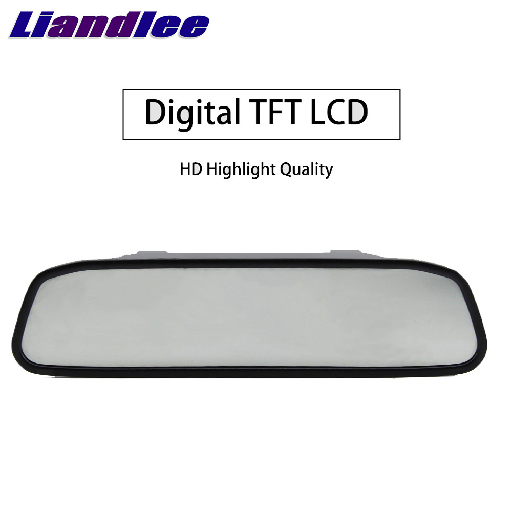 Liandlee 4.3inch Universal HD Car Rearview Mirror Display LCD Digital DVD VCD Car Rearview Mirror Display Monitor video input (2)