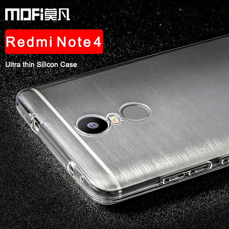 "xiaomi redmi note4 case silicon soft back ultra thin mofi original 5.5"" xiomi redmi note4 pro prime cover clear coque"