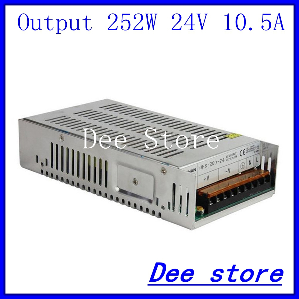 250W 24V 10.5A Single Output  Switching power supply unit for LED Strip light Universal AC-DC Converter<br>