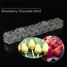 Strawberry Shaped 3D Candy Jelly Mold Hard Polycarbonate PC   Chocolate Mould