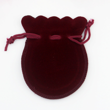 [100*80mm] Jewellery Box Gift Packaging Wholesale Hot Sale Fashion Jewelry Rings Necklaces Earrings Velvet Dark Red Gourd Bag