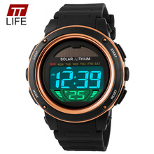 TTLIFE Colorful Electronic Solar Watches Men Auto Date Popular Women Watch Luxury Waterproof Sports LED Lovers Wrist Watches