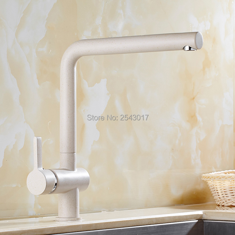 New Arrival Kitchen Swivel Faucet Beige Color Deck Mounted Flexible Rotation Hot and Cold Kitchen Mixer Tap ZR589<br><br>Aliexpress