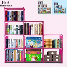Homdox Fashion Korean Bookshelf Home Furniture Adjustable Bookcase Storage Bookshelf with 9 Book Shelves N3020