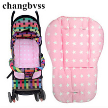 Cotton Stroller Liner Seat Cushion Child Carriage Thick Mat Baby Car Umbrella Cart Pad Stroller Accessories Mat Puset Minderi(China)
