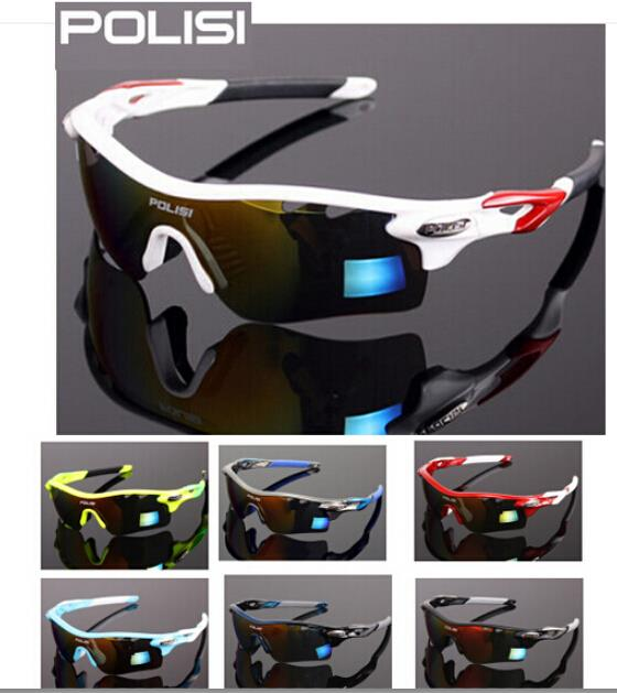POLISI Polarized Cycling Glasses Bike Driving Fishing Sunglasses Goggles 4 Lens<br>