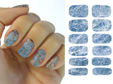 New Art Nail Sticker Water Transfer Colourful Graphic Marble Design Nails Sticker Nail Wraps Decals K5731(China)