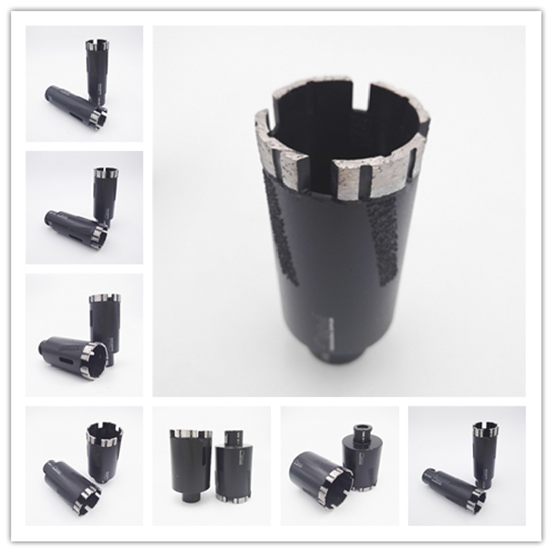 DIATOOL 2pcs Laser Welded Diamond Dry Drilling Core Bits With Side Protection 5/8-11 Connection<br>