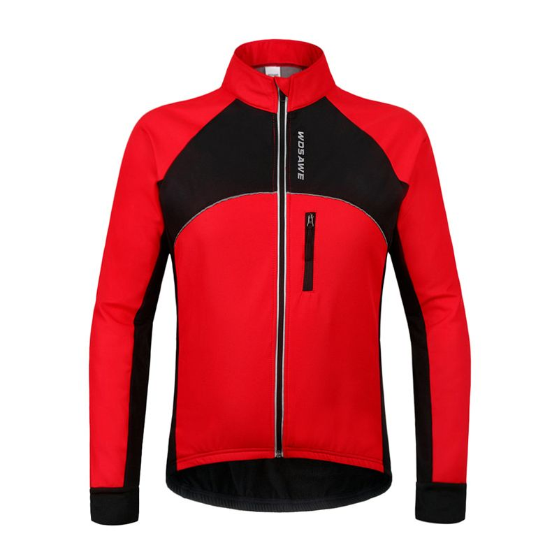 WOSAWE Men Thermal Fleece Warm Cycling Jacket MTB Road Downhill Bike Bicycle Sports Running Training Outerwear Windproof Clothes<br><br>Aliexpress