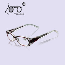 Rhinestone Reading Glasses Women Gafas de Lectura Eyeglass Fashion Spectacles Frames +50 +75 100 125 150 175 200 250 300 350 400(China)