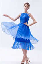 Royal Blue Sexy Spaghetti Strap Girls Cocktail Dresses Tea Length Elegant Cocktail Dress Short Formal Party Dresses Women Gown