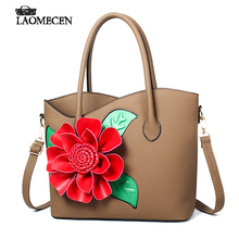 Chinese Big Red Flower Handbag Woman Lichee Tote Solid Valentine Bags Luxury French Handbags Designer Brand Famous Shoulder Bag
