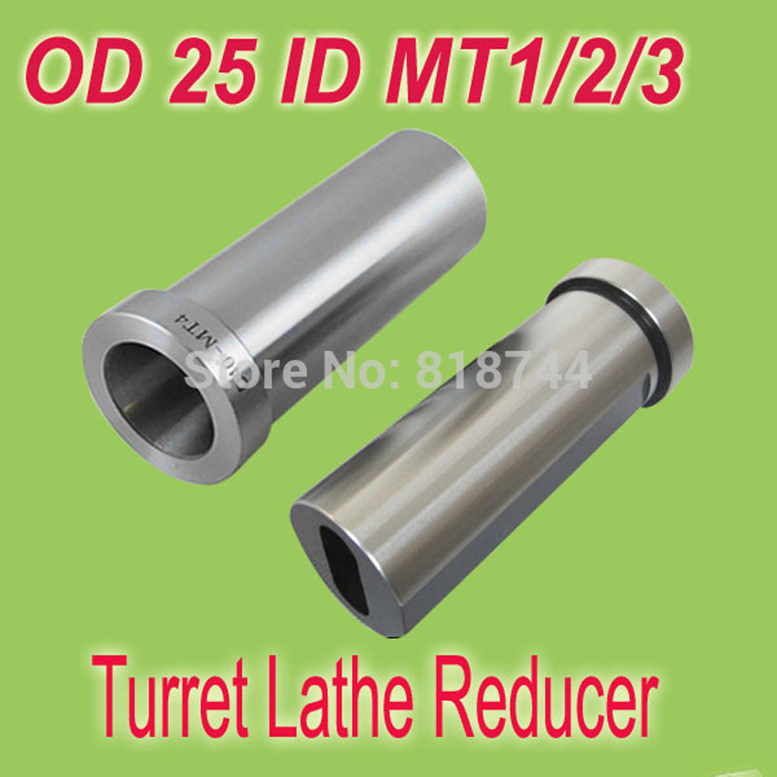 Free Shiping 1 OD 25mm CNC Lahte Tool  Bushing Reducer  Turret  Adapter Sleeve  Reducer MT1/MT2/MT3  ID<br><br>Aliexpress