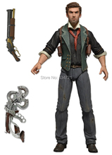 "New Arrival Classic First View PC/Xbox/PS Shooting Game BioShock Infinite Booker Dewitt 7""/18CM Action Figure Toy New In Box(China)"