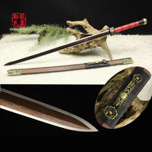 Handmade Antique Chinese Sword Han Jian Folded Steel For Home Fungshui Decoration  Ornaments