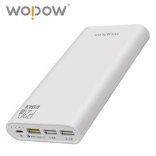 Wholesale Wopow Quick Charger 3.0 P20Q 20000mAh power bank 12W Three USB Charging port Portable Charger External Battery(China)