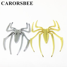 CARORSBEE Cool Car Styling Accessories 3D Metal Sticker Spider Shape Emblem Logo Motorcycle Motocross Automobiles Badge Decal(China)