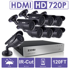 ZOSI 8CH CCTV System 1080P DVR 8PCS 1500TVL IR Weatherproof Outdoor Video Surveillance Home Security Camera System 8CH DVR Kit