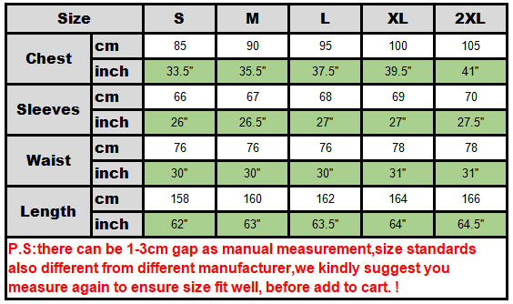 size chart witch