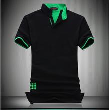 2016 Summer New Men's Polo Plus 7XL, Rxplosion Models Fashion Slim V-Neck Solid Color Cotton Men's Short Sleeved Polo Shirts