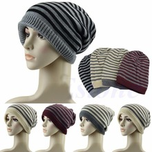 Stripes Knitted Hats 2015 New Autumn Winter Cap Fashion Men Women Beanie Gorros Toucas 4 Colors for Choose(China)