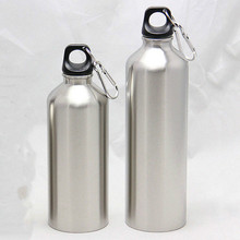Buy 750ML 500ML Water Stainless Steel Double Vacuum Insulated Bottle Sport Drinking Water Bottles Lid Rope Sliver 1PC for $1.34 in AliExpress store