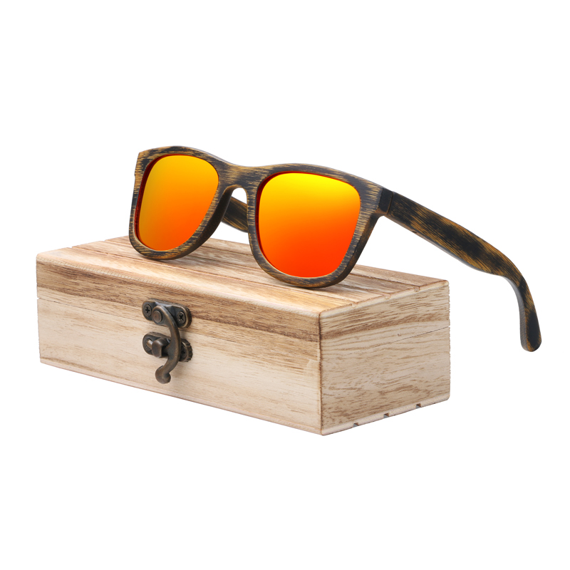 Acheter Berwer Wood Lunettes De Soleil À La Main En Bambou Lunettes ... 8e896662a266