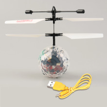 Hot! Infrared Induction Flying Flash Disco Colorful LED Ball Helicopter Child Toy New Sale(China)