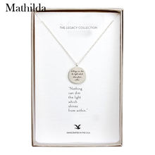"""The Light"" Silver Plated Quote Pendant Necklace Clavicle Chain Necklace Women Jewelry E008(China)"