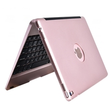 Wireless Bluetooth Keyboard For Apple ipad Air 2 / pro 9.7 ABS plastic alloy Metel Ultrathin Dock Cover Case Stand Holder
