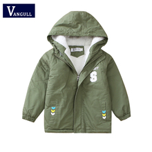 Buy Winter children's cotton clothes,5-15 year old boy thickening velvet Cotton print letter arrow hooded Overcoat boys Parka Trench for $18.13 in AliExpress store