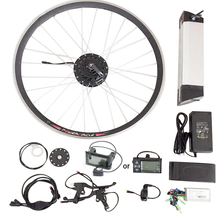 "36v Electric Bicycle Conversion Kit 350w 250w 500w for 26"" 28"" Motor Wheel with 10ah Bottle Battery LCD volo electrique parts"